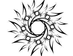 tattoo design lion tribal lion tattoo design on black background