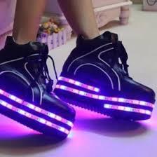 shoes black black shoes purple platform shoes light up shoes