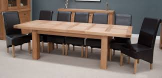 large extending dining table homestyle bordeaux thick top solid oak large extending dining table