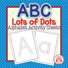 abc dot worksheets alphabet activity sheets for preschool and