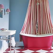 Shower Curtains With Red In Them Bathroom Colour Schemes Ideal Home