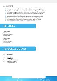 Resume Personal Profile Example by Leaver Resume Free Excel Templates