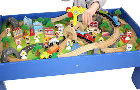 Thomas The Train Play Table Thomas And Friends Wooden Toy Train Play Set With Wooden