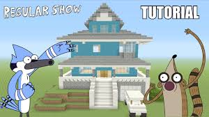 minecraft tutorial how to make the regular show house survival