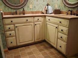 distressed off white kitchen cabinets best 25 antiqued kitchen