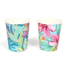 sl0143 paper tropical design cups 29490 interior decor