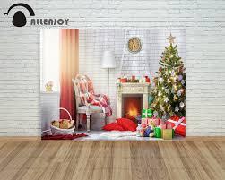 Christmas Photo Backdrops Aliexpress Com Buy Allenjoy Photo Backdrops Warm Fireplace