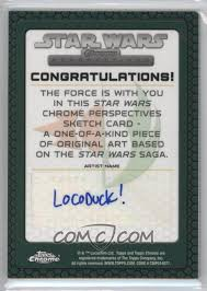 Star Wars Congratulations Card 2015 Topps Star Wars Chrome Perspectives Jedi Vs Sith Sketch