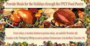 thanksgiving turkeys for the food pantry and a special offer from