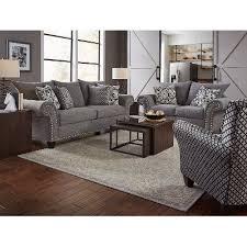 casual traditional carbon gray sofa u0026 loveseat set paradigm rc