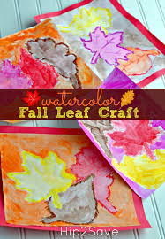 watercolor fall leaf kid u0027s craft u2013 hip2save