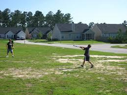 the bernetich family mini golf batting cage and backyard fun