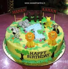 designer cakes animal jungle theme customized 3d designer cake for boys 1st