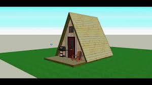 Cabin Blueprints Free A Frame 14x14 Cabin Design Free Sketchup Files On My Website