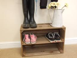 rustic vintage style wooden shoe rack new handmade apple