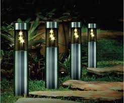 outdoor lighting stainless solar post lamp led patio lights yard