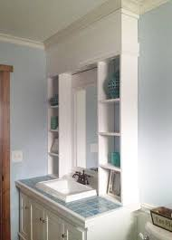 Bathroom Can Lights White Vanity Hutch With Recessed Lights Diy Projects