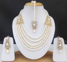 necklace pearl ebay images Indian rani haar jewelry set pearl cz bridal royal necklace jpg