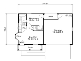 one bedroom garage apartment plans