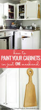 Remove Paint From Kitchen Cabinets Remodelaholic How To Paint Your Kitchen Cabinets In One Weekend