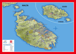Travel Map Of Europe by Large Detailed Elevation And Tourist Map Of Malta And Gozo With