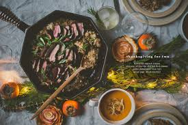 thanksgiving for two with sticky rice stuffed duck breast finex