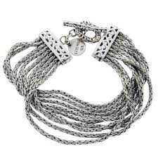 silver rope chain bracelet images Lois hill 925 sterling silver multi strand rope chain bracelet jpg