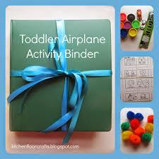 kitchen floor crafts toddler airplane activity binder