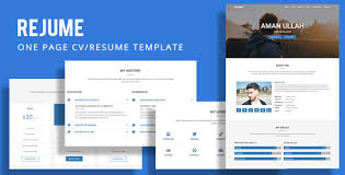 Resume Templates For Pages Rejume Personal Resume Template By Coderspoint Themeforest