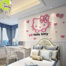 home decor free shipping free shipping acrylic wall stickers home decor hello kitty creative