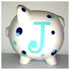 monogram piggy bank boys piggy bank javi333