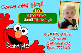 elmo 1st birthday invitations wblqual com