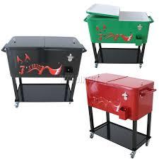 patio patio cooler cart rolling metal cooler deck cooler on