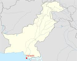 map of karachi location of karachi pakistan map mapsof net