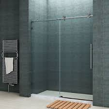 shower fully frameless sliding shower doors 60 w x 79 h