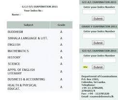 sri lankan l o l 2011 results released check results online