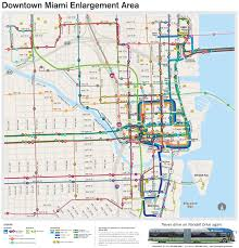 Public Transit Chicago Map by Miami Transit Map Miami Public Transit Map Florida Usa