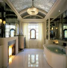 interior elegant bathroom design and decoration ideas using white