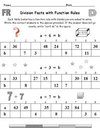 division facts with function rules the missing square roots and
