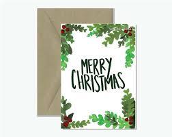 watercolour berries merry christmas card rosie lou