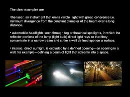 Visible Light Examples Coherence Of Light