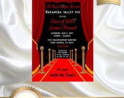 red carpet invite etsy