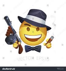 vector retro american gangster smiley thompson stock vector
