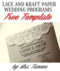 free templates for wedding programs wedding program template mrs fancee