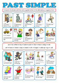 18 free esl past simple negative worksheets