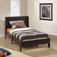 Single Wood Bed Frame Tween Boy Bedroom White Finish Study Desk Built In Single Bed Pink