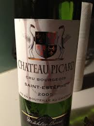 learn about st estephe bordeaux wine gems the wine not the posts château picard 2005