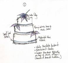wedding cake design sketches melissa jade cakes
