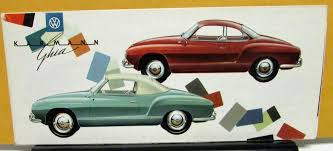 Karmann Ghia Interior Volkswagen Dealer Sales Brochure Folder Vw Karmann Ghia Color