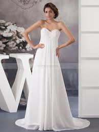 wedding dresses maternity beaded strapless neckline column style chiffon bridal dress